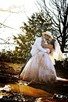 Trash The Dress Photos That S For Me Camo Wedding Engagement Bells