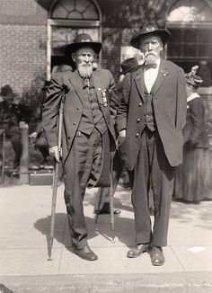 Civil War veterans, as they were in 1915. Taken by well known photographers Harris & Ewing of Washington, D.C.