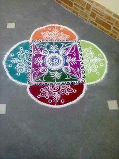 Rangoli design for diwali hot