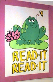 """Read it...The Bible! (set the frog on a big Bible"""""""