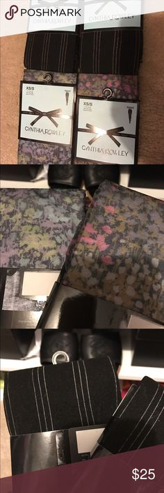 4 new pairs Cynthia Rowley tights XS/S Brand new. 4 pairs. Size XS/S Cynthia Rowley Accessories Hosiery & Socks