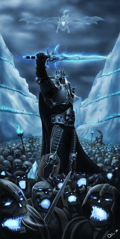 Rise of the Lich king Art Warcraft, Wow Of Warcraft, World Of Warcraft 3, Dark Fantasy Art, Beautiful Fantasy Art, Fantasy Artwork, Arthas Menethil, World Of Warcraft Wallpaper, Arte Dope