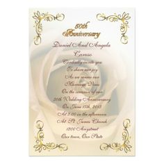 109 Best 50th Wedding Anniversary Invitations Customized Images