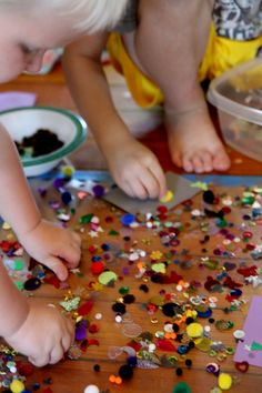 Sensory art project for kids/toddlers