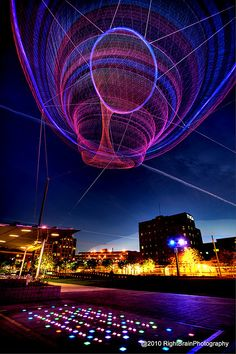 Janet Echelman #Lighting #Installation #LED #LEDlighting #Lights #LEDlights #Inspiration #LEDs #Arts #Visual [Light Art - Light Installation - Light Painting - Light Exibithion]