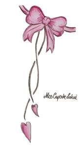 Pink tattoo bow design by ~Cupcake-Lakai on deviantART