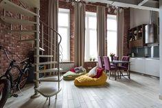 Casinha colorida: Um loft para os divorciados