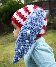12 to 24m Red White Blue Baby Star Stripe Flag Bunny by BabaMoon