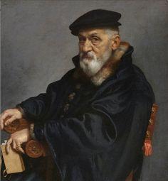 G.B.Moroni. Ritratto di Vecchio seduto, 1575. Bergamo, Accademia Carrara.