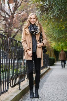No substitute for a good camel colored peacoat