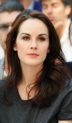 Michelle Dockery wearing Burberry Beauty to the Burberry Prorsum Menswear S/S13 show