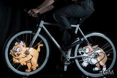 自転車のホイールに自分の好きな絵や文字を??