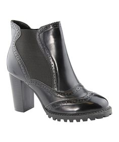 Take a look at this Black Elvy Pull-On Bootie today!