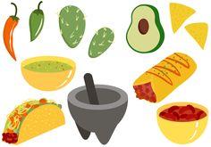 Comida mexicana grátis 2 vetores