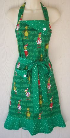 Christmas Apron How the Grinch Stole Christmas Dr Seuss