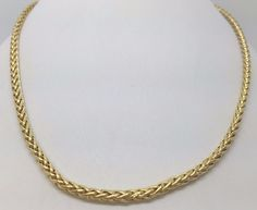 """14K YELLOW GOLD WHEAT CHAIN 24"""" MILOR ITALY 2.7 MM #Chain"""