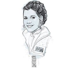 Carrie Fisher: Princess - General - Force of Nature by Phil Noto *