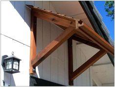 Ideas exterior window awnings diy patio for 2019 Front Door Awning, Front Door Canopy, Diy Awning, Metal Awning, Window Awnings, Porch Awning, House Awnings, Door Overhang, Timber Front Door