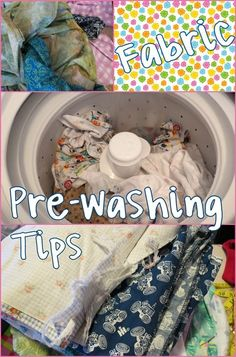 """Fabric Pre-Washing Tips :: All my tips on washing fabric before sewing :: Prevent the post washing """"monster knot""""."""