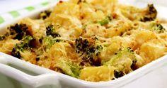 Batata e brócolis gratinados