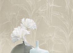 Collection INFINITY. Raffinement, sophistication, subtil, élegance, blanc, beige,  papier-peint
