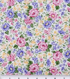 Keepsake Calico Fabric-French Bouquet Pink Lavender at Joann.com