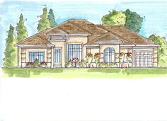 This set of Mediterranean Houseplans has a lot to offer the luxury-seeking crowd.