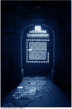 Humayun's Tomb Building Window | Cyanotype Print | Robert A. Schaefer Jr. | @VandM.com.com.com.com.com.com