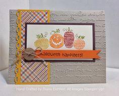 Stampin' Fun with Diana, Stylin' Stampin' INKspiration Blog Card Sketch Challenge, Halloween Happiness, Big Shot, Halloween, Stampin' Up, Diana Eichfeld