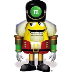Yellow dressed as a nutcracker. Red says this cracks him up. Nutcracker Characters, M&m Characters, Yellow M&m, Mellow Yellow, Orange, Nutcracker Sweet, Nutcracker Christmas, Peanut Butter M&ms, House Of M