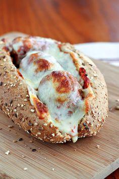 Mozzarella meatball sub!