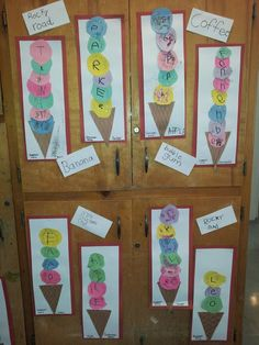 Ice Cream Cone Names.....Great practice for cutting and writing first names!