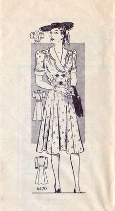 1930s Misses Dress Pattern
