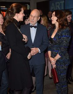 Catherine, Duchess of Cambridge and Patrick Stewart in NYC. December 9, 2014.