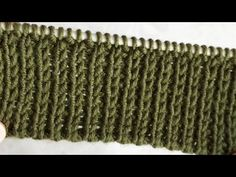 Tekstil tipi lastik örgü textile type ribbing mesh pattern - YouTube Knitting Designs, Knitting Patterns, Free Baby Blanket Patterns, Knitted Baby Blankets, Knitting Videos, Free Baby Stuff, Baby Sweaters, Flower Making, Knit Crochet