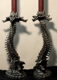 Helix Ossuary Candlesticks, by Michael Locascio on Etsy.