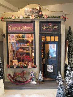 Art Miniature Victorian Christmas Shop