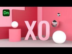 Design 3D Text Scene in Adobe Dimension | XO PIXEL - YouTube 3d Text, Initials, Adobe, Scene, Videos, Youtube, Design, Cob Loaf, Design Comics