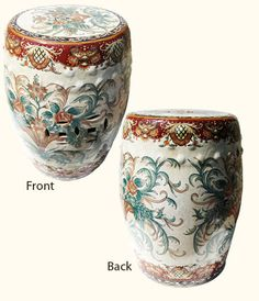 Oriental Furnishings - 18'H Chinese Porcelain Garden Stool Hand Painted in Florentine Design, $283.00 (https://www.orientalfurnishings.com/18h-chinese-porcelain-garden-stool-hand-painted-in-florentine-design/)