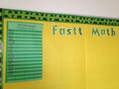 Class at SPARK Academy - TEAM Schools.    Another way to track FASTT Math Data.