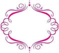 pink on white flourish