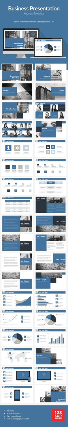 Blue Corporate Business Presentation Template #design #slides Buy Now: graphicriver.net/...