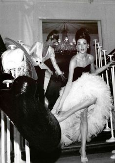 Elle Macpherson and Carla Bruni for Christian Dior SS 1995 by Pamela Hanson