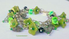 Lime in Bloom Floral Bouquet Charm Bracelet, love the green!