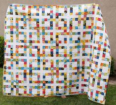 Finished Lucky Square Quilt - from Pitter Putter Stitch