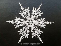 Carrier of life and soul: Crocheted snowflakes # 3 Crochet Snowflake Pattern, Crochet Snowflakes, Crochet Motif, Crochet Doilies, Crochet Flowers, Crochet Patterns, Free Crochet, Crochet Angels, Crochet Stars