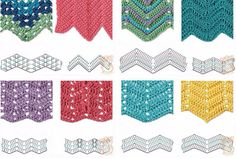Zig Zag Crochet Stitches for Free. More Patterns Like This