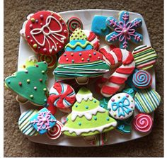 Whimsical Christmas Cookies on Etsy, $40.00