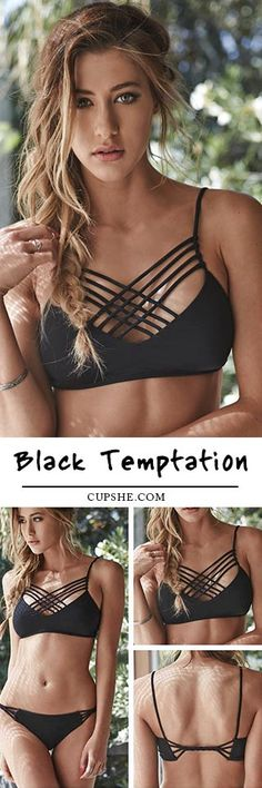 Rock the vision that'll make your body rock. The Cross Bikini is black and pink and features Cross design at chest. What are you waiting for this summer? Find more at CUPSHE.COM