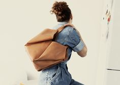 The secretive blossom-shaped carrier with four pockets surrounding a central… Leather Backpack, Backpacks, Bags, Shopping, Pockets, Fashion, Accessories, Fashion Styles, Handbags